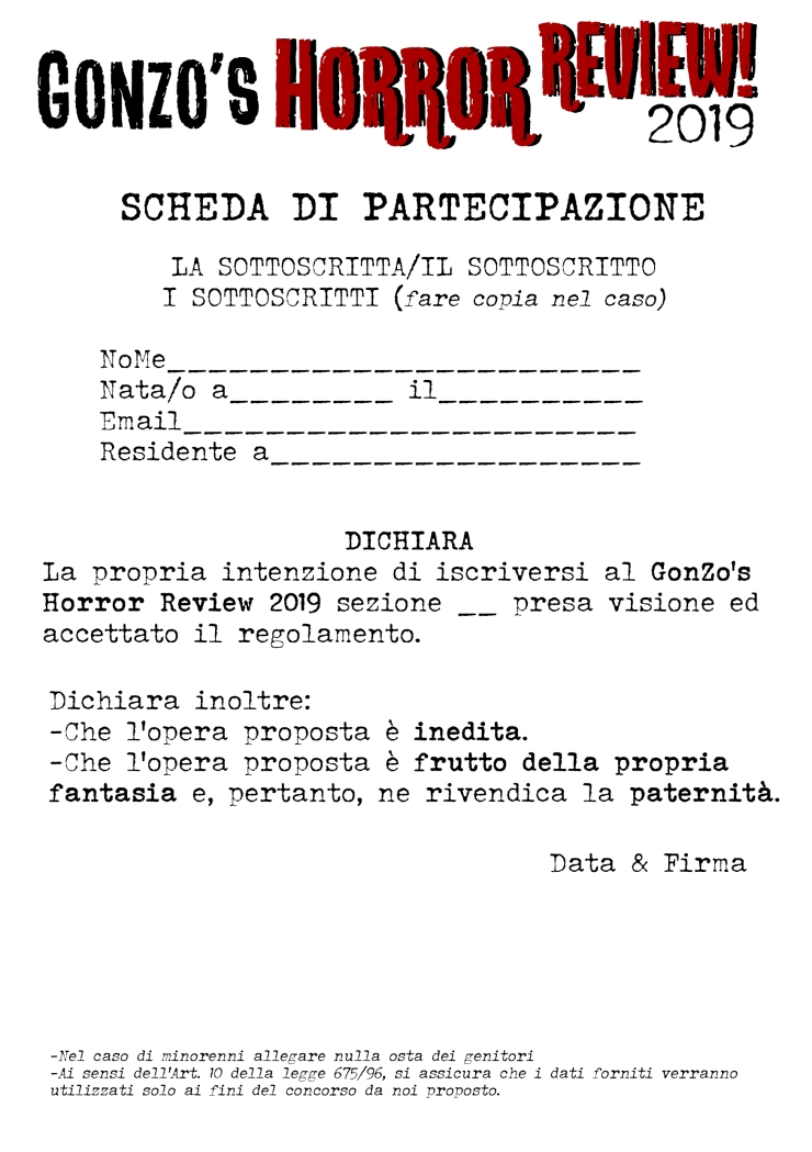 scheda di partecipazione